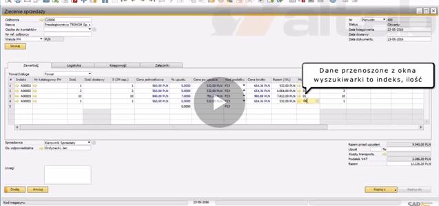 AltSearch – wyszukiwarka indeksów w SAP Business One